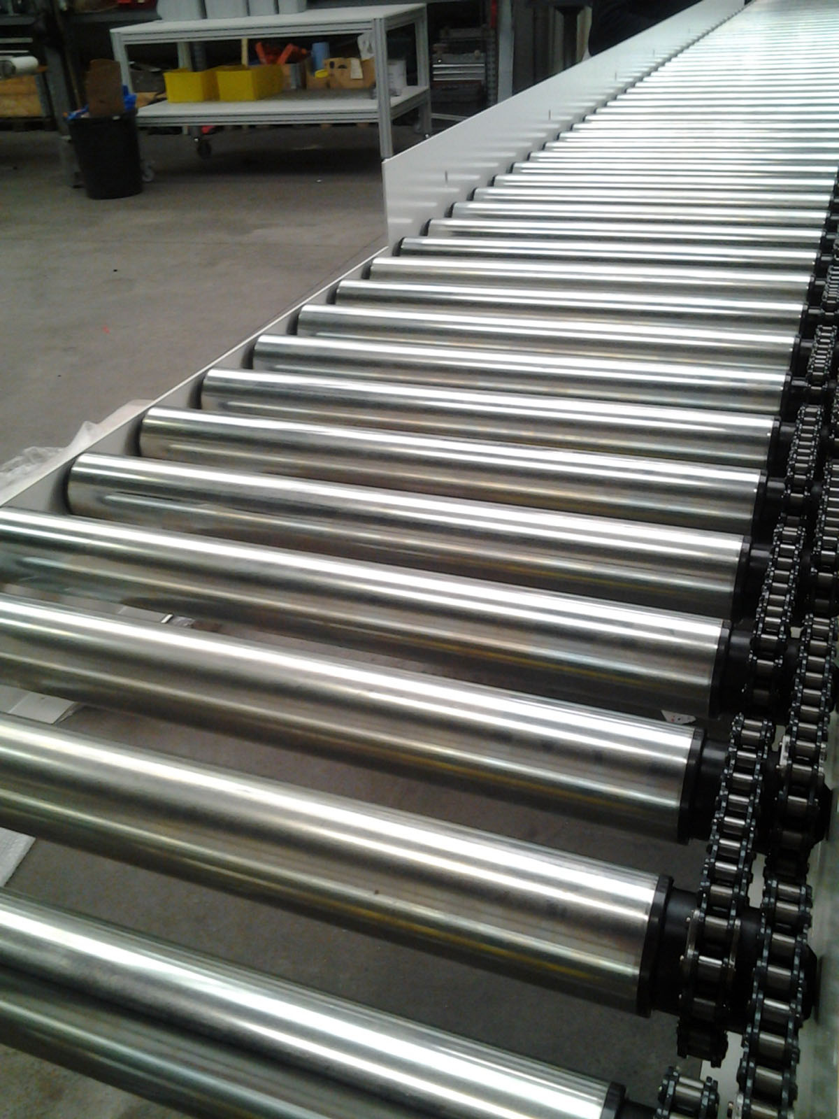 Chain Driven Roller Conveyors Roller Conveyors Easy