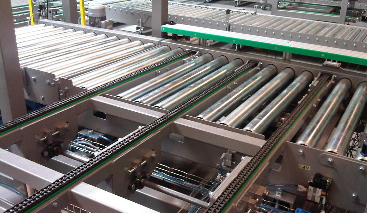 Chain conveyors - Pallet & container transport - Easy Systems