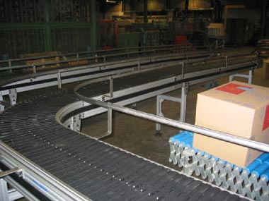 Plate chain conveyor - Mat top & table top systems - Easy Systems
